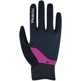 Roeckl Mori Gloves, zwart/violet
